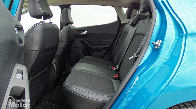 Space of the rear seats of the Ford Fiesta