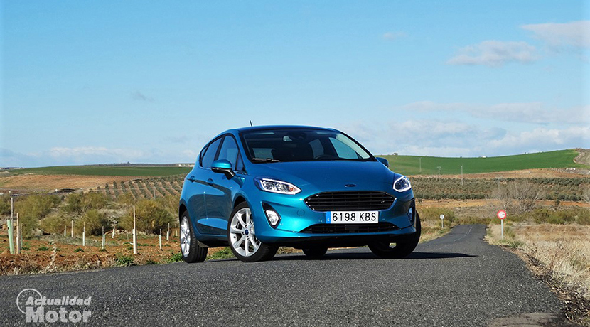Test Ford Fiesta front profile