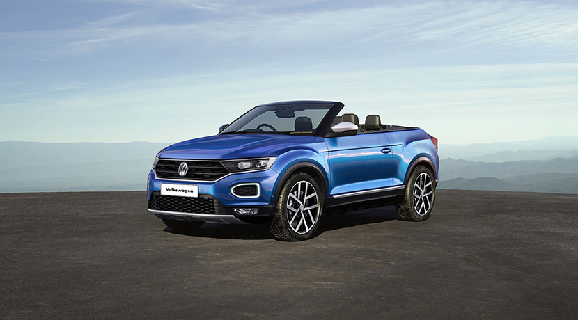 Rendering of the Volkswagen T-Roc Cabrio