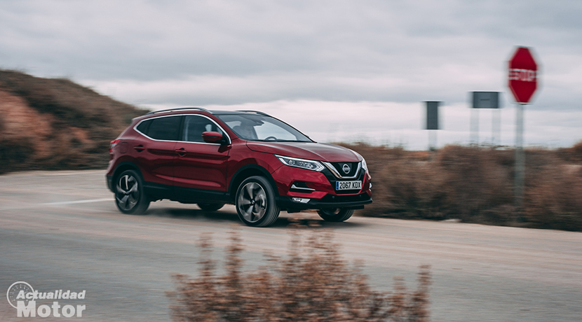 Test Nissan Qashqai in motion
