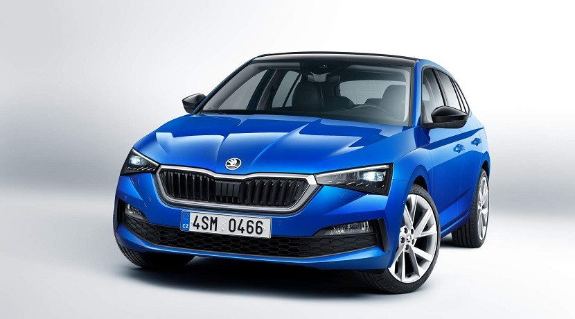 Front of the Skoda Scala