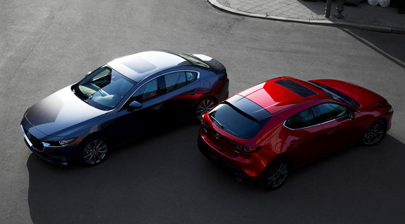 Variants of the Mazda 3 Fourth Generation
