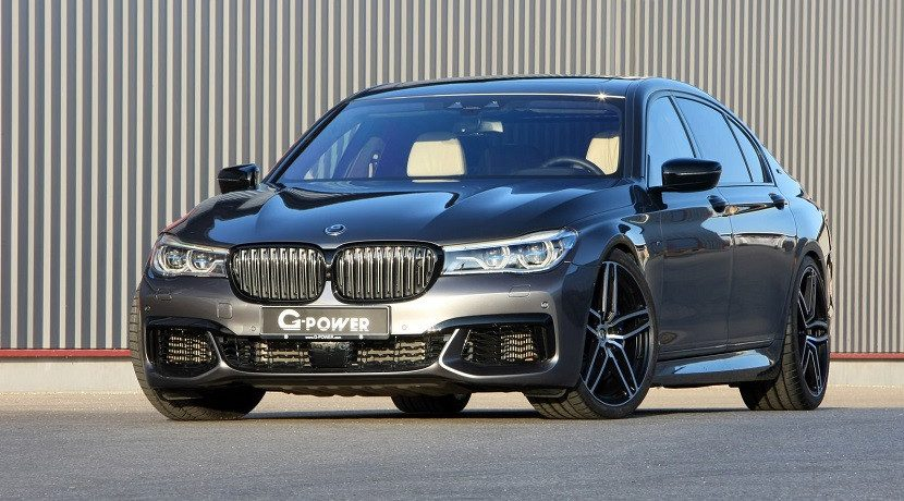 Front of the BMW M760Li G-Power